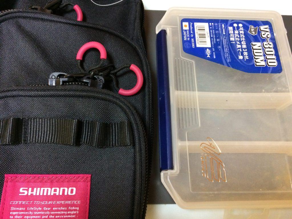 【釣り】シマノ ランガンレッグバッグレビュー。ルアーケース収納や裏側など