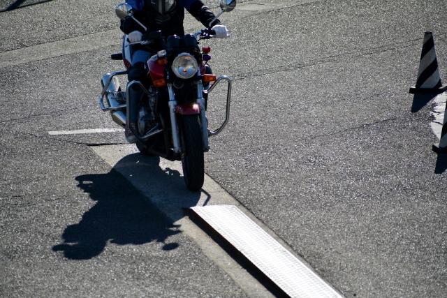 バイク免許一本橋スラローム
